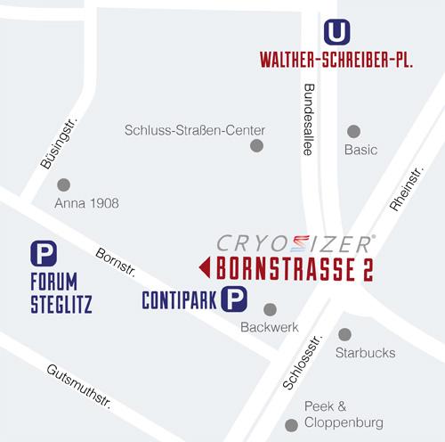 Map CRYOSIZER B2 Berlin Steglitz